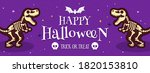 happy halloween banner vector... | Shutterstock .eps vector #1820153810