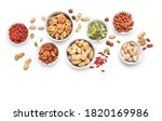 Mixed Nuts In Small White...