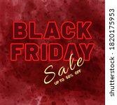 banner for black friday in red... | Shutterstock .eps vector #1820175953