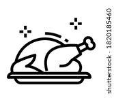 A Roasted Chicken Turkey Icon...