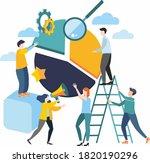 raster illustration. group of...   Shutterstock . vector #1820190296