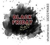 banner for black friday in... | Shutterstock .eps vector #1820190683