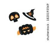 halloween vector on white... | Shutterstock .eps vector #1820193569