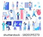 doctor medic people work... | Shutterstock . vector #1820195273