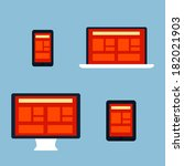 flat responsive design
