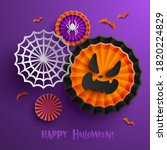 paper graphic of halloween... | Shutterstock .eps vector #1820224829