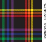 rainbow glen plaid textured... | Shutterstock .eps vector #1820233496