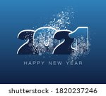 happy new year 2021. creative... | Shutterstock .eps vector #1820237246