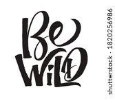 be wild card. brush style... | Shutterstock .eps vector #1820256986