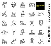 manufacturing thin line icons   ... | Shutterstock .eps vector #1820258813