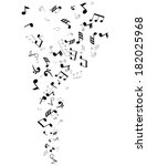 vector musical notes  | Shutterstock .eps vector #182025968