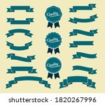 set of blue vintage ribbon and...   Shutterstock .eps vector #1820267996
