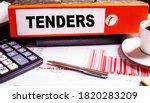 Tenders Is Written On A Red...