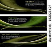 vector banners.set of three. | Shutterstock .eps vector #182028629
