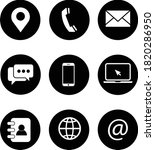 web icon set. information icon... | Shutterstock .eps vector #1820286950