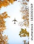 Passenger Airplane Flying...