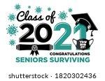 graduation class of 2021....   Shutterstock .eps vector #1820302436