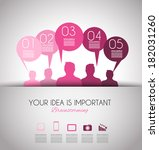 infographic design template... | Shutterstock . vector #182031260