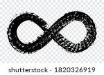 grunge dirty infinity symbol... | Shutterstock .eps vector #1820326919