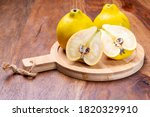 Group Of Ripe Yellow Quince...