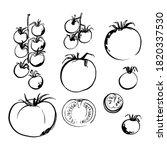 sketch of food vegetables by... | Shutterstock .eps vector #1820337530