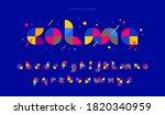decorative geometric font.... | Shutterstock .eps vector #1820340959