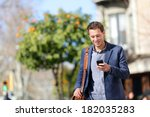 young urban professional man... | Shutterstock . vector #182035283