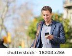 young urban businessman... | Shutterstock . vector #182035286