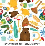 classic russian things seamless ... | Shutterstock . vector #182035994
