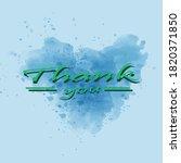 thank you  concept of gratitude.... | Shutterstock .eps vector #1820371850