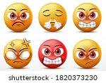 smiling faces emoticon... | Shutterstock .eps vector #1820373230