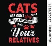 cats are god's way of... | Shutterstock .eps vector #1820375879