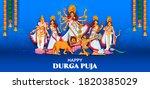 illustration of goddess durga... | Shutterstock .eps vector #1820385029