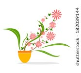 vector design of flower in pot | Shutterstock .eps vector #182039144