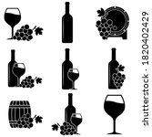 wine icon  logo isolated on... | Shutterstock .eps vector #1820402429