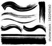 brush stroke lines. | Shutterstock .eps vector #182040560