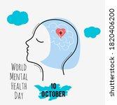 world mental health day vector... | Shutterstock .eps vector #1820406200