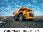 A Large Quarry Dump Truck In A...