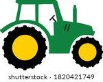 tractor eps farm tractor vector ... | Shutterstock .eps vector #1820421749