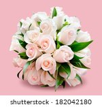 bridal bouquet of delicate...   Shutterstock . vector #182042180