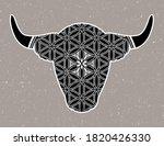 ornamental taurus zodiac star...   Shutterstock .eps vector #1820426330