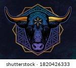 ornate taurus zodiac star sign. ...   Shutterstock .eps vector #1820426333
