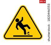 wet floor sign. vector...   Shutterstock .eps vector #1820446553