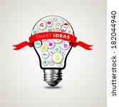 creative social network... | Shutterstock .eps vector #182044940