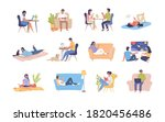 colorful cartoon people...   Shutterstock .eps vector #1820456486