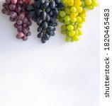White  Blue  Red Grapes On...