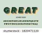 alphabet vintage font  typeface ...   Shutterstock .eps vector #1820471120