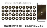 instagram highlights stories... | Shutterstock .eps vector #1820482256