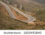 Empty Desert Road Curves In Th...