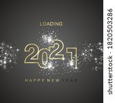 happy new year 2021 loading...   Shutterstock .eps vector #1820503286
